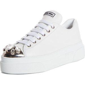 MIU MIU Crystal Cap Toe Sneaker sz 7
